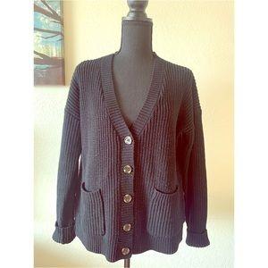 Forever 21 Black Knit Cardigan Sweater Medium